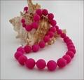 Magenta Candy Jade Necklace (BH88)