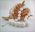White Candy Jade Necklace (BH93)