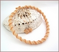Peaches & Cream (with Waffles) Necklace and Earring Set (BW43)