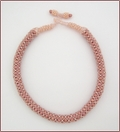 Dusky Pink Netted Necklace (BW47)