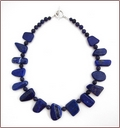 In Shape - Chunky Lapis Lazuli Knotted Necklace (WB31)