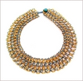 Blue & Gold Netted Collar (BW52)