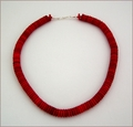 Red Rondelle Necklace (BH104)