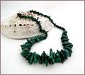 Raw Malachite Sticks Necklace (WB32)