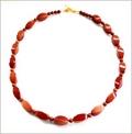 Orangey Gold Sandstone Necklace (LS106)