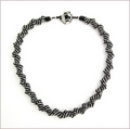 Russian Spiral Necklace Shades of Grey (BW57)