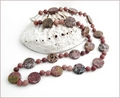 Knotted Ocean Agate & Jasper Long Necklace (LS110)