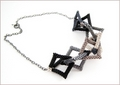 Shades of Grey Geometric Shapes Necklace (BW108)