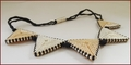 'Nude' Beadwork Triangles Necklace (BW136)