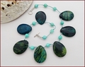 Chrysocolla Teardrops Knotted Necklace (LS117)