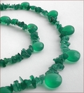 Green Onyx Necklace and Earrings (SM99)