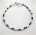 Sapphire and Pearl Precious Friendship Bracelet (SM107)