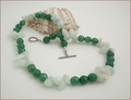 Aventurine and Hemimorphite Necklace (LS04)