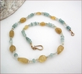 Blue and Yellow Aquamarine Necklace (BH23)