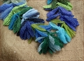 Rhythm & Blues Blue & Green Beadwork Garland (BW22)
