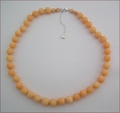 Peach Candy Jade Necklace (BH95)