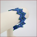 Blue and Green Ric Rac Bangle (BB21)