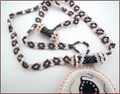 Porcelain Pendant on Beadwork Chain (BW45)