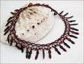 Flames Collar Necklace (BW111)