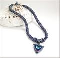 'Azrak' Swarovski Crystal Beaded Necklace (BW103)