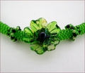 Lime Flower Beadwork Necklace (BB120)
