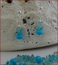 Apatite and Turquoise Necklace and Earrings (CG73)