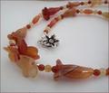 Carnelian Flowers Necklace (CG36)