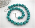 Turquoise Howlite Knotted Necklace (BH100)