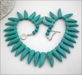 Spiky Turquoise Collar (BH101)