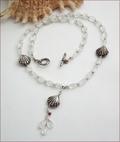 Mermaid's Treasure Aquamarine Necklace  (SS70)