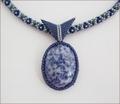 Sodalite Pendant Beadwork Necklace (BW109)