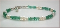 Emerald and Pearl Necklace, Bracelet and Earrings Set (CG50)