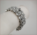 Diamond Silver Beadwork Bracelet (BB24)