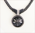 Starry Nymph Dragonfly Pendant Necklace (BWD07)