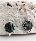 Paua Shell Knotted Necklace and Earrings (SS112)