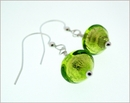 Peridot Green Murano Earrings (DDE23)