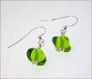 Lime Green Murano Glass Earrings