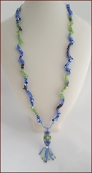 Seaside Sparkle Long Beadwork Necklace (BW130)