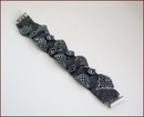 'Concerto' Beadwork Bracelet in Gunmetal (BB37)