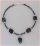 Iolite and Pearl Necklace (SS40)