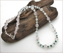 Emerald and Rose Quartz Necklace (CG19)