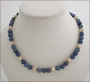 Blue Aventurine and Aragonite Necklace (D46)