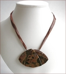 Rainforest Jasper Pendant Necklace (D47)