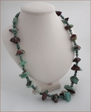 Raw Chrysoprase with Xinghai Jade Necklace (WB008)