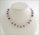 Fluorite and White Agate Necklace (CG41)