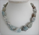 Raw Aquamarine Necklace (WB22)