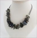 Raw Labradorite Necklace (WB21)