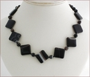 Black Banded Agate Necklace (SM116)