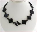 Black Banded Agate Necklace (SM116)