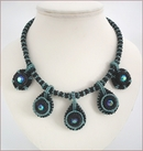 Teal Teardrops Beadwork Necklace (BW002)